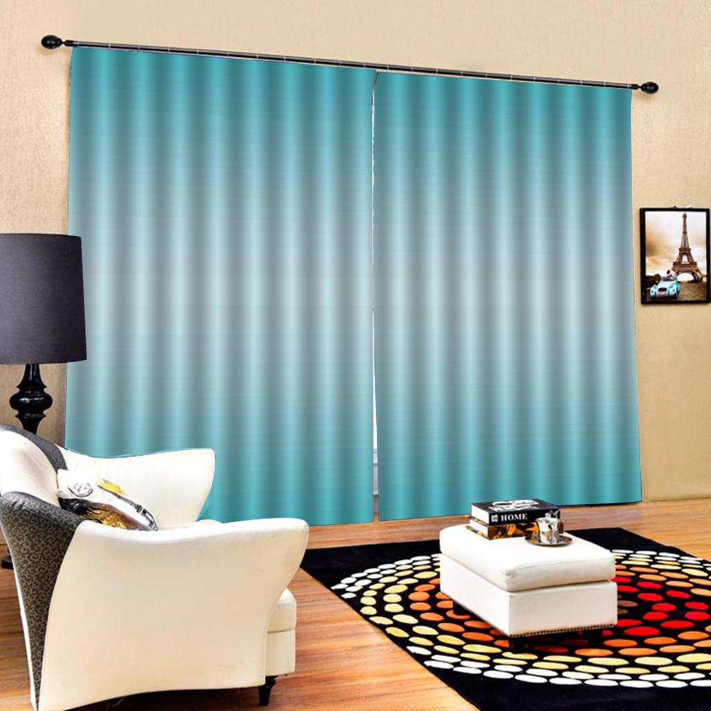 blue curtains Customized size Luxury Blackout 3D Window Curtains For Living Room Drapes Cortinas