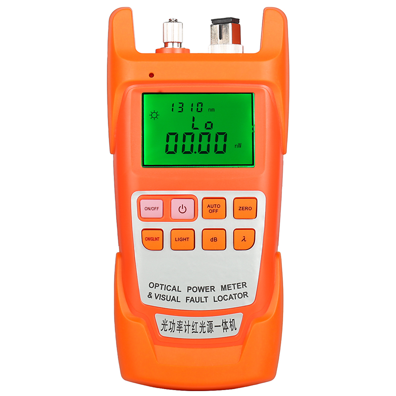 AUA-9A 1MW 10MW 20MW 30MW Optical Power Meter Red Light Machine Light Pen Power Meter Tester Two In One Visual Fault Locator
