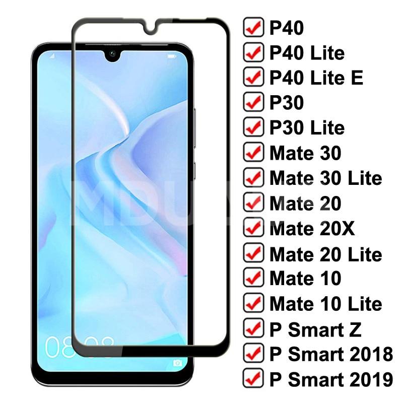 9d vidro temperado para huawei p40 p30 lite p smart z 2019 protetor de tela vidro huawei mate 30 20 10 lite 20x