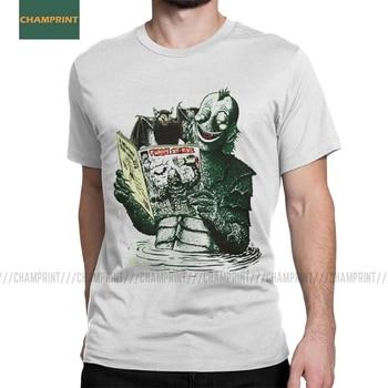 Lolz Creature Lolz de La Laguna Negra camisetas hombre Gillman monstruo Terror Camiseta de algodón de manga corta Camiseta
