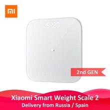 Оригинальные Xiaomi mi, умные весы 2, весы для здоровья, весы с Bluetooth 5, цифровые весы с поддержкой Android 4,3 iOS 9 mi fit APP