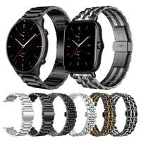 Metalen Horloge Band Voor Huami Amazfit Gtr 2 Armband Gts 2 Bip S U Pro Voor Xiaomi Amazfit Gts 2 mini Stratos 3 Tempo Horloge Band