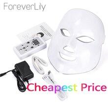 VIP 7 צבעים LED אור פוטון פנים מסכת התחדשות עור טיפול נגד קמטים אקנה עור הדק פנים יופי טיפול להלבין מכשיר