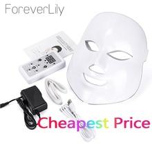 VIP mascarilla Facial de fotones con luz LED, 7 colores, para el cuidado de la piel, rejuvenecimiento, antiarrugas, acné, estiramiento de la piel, dispositivo Blanqueador