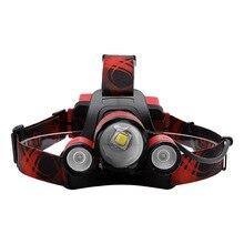 Boruit стиль L2 белый свет 2R2 красный свет Фокусирующая фара зарядка через usb Предупреждение репеллент фары