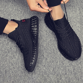 Light Weight Running Shoes For Men 2020 Spring Autumn Comfortable Anti Slip Male Shoes Outdoor Walking Sneakers Men Black