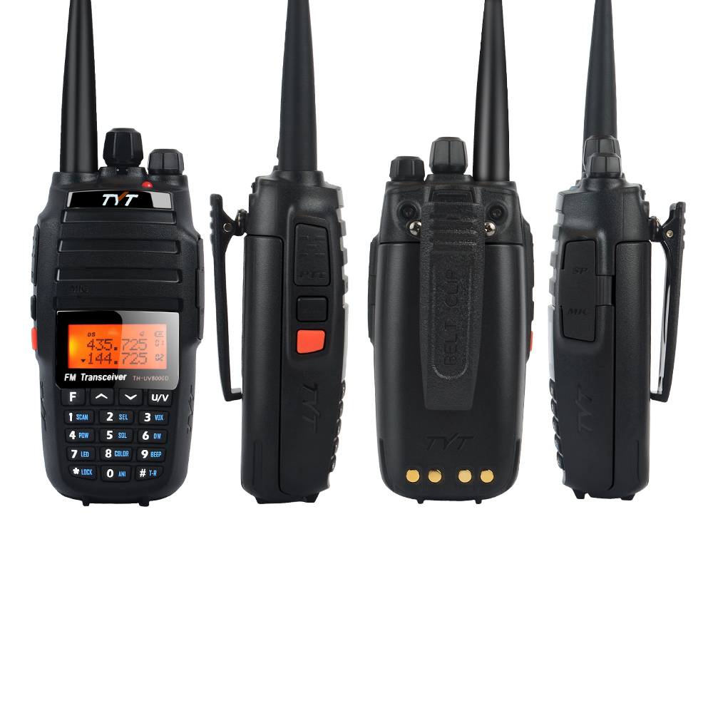 TH-UV8000D Walkie Talkie TYT 10W Dual Band VHF&UHF Cross Band Repeater Functional Portable Ham Radio 128CH W/3600m Battery