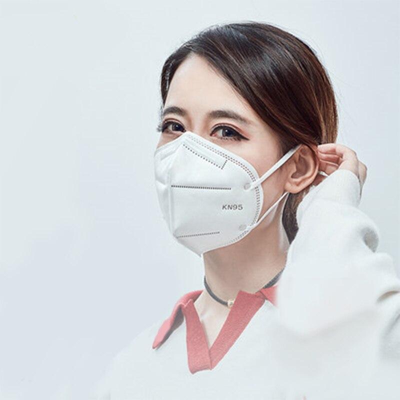 10-200PCS Protective Mask Dustproof Anti-fog Breathable Mouth Face Masks 95% Filtration Respirator Masks Disposable Mask
