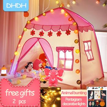 Zagraj w namiot dla dzieci dzieci kryty odkryty zamek księżniczki składane zabawki Cubby Enfant pokój dom namiot dla dzieci Teepee Playhouse tanie i dobre opinie Tkaniny CN (pochodzenie) Tent tent 0-12 miesięcy 13-24 miesięcy 2-4 lat 5-7 lat 6 lat 8 lat 3 lat 3 lat TD1050