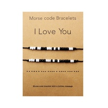 I Love You Morse Code Bracelet Couples Matching Bracelets fo