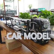 1:18 Масштаб сплава игрушечные транспортные средства NZG двухэтажный прицеп транспортный прицеп модель автомобиля Детские игрушечные машинки Аутентичные детские игрушки