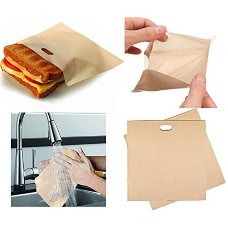 1pcs Toaster Bags for Grilled Cheese Sandwiches Made Easy Reusable Non-stick Baked Toast Bread Bags 2 2 2 2 2 image