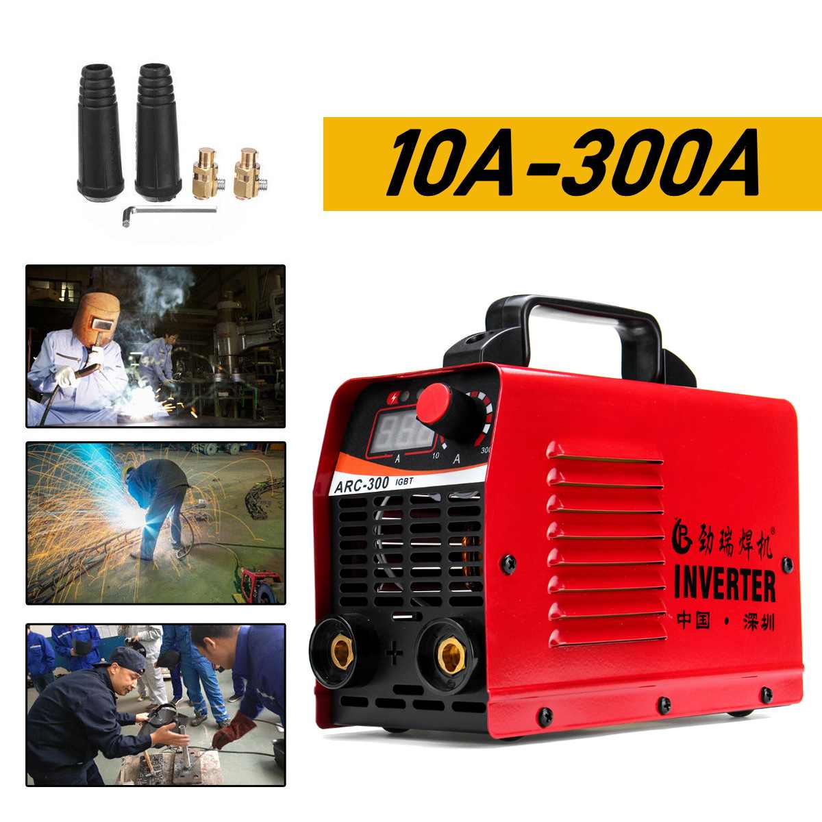 (RU Fast Shipping) ARC-300 220V LCD Electric IGBT Inverter MMA ARC Inverter Welding Machine