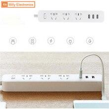 Original xiaomi 3 mi inteligente plug adaptation power strip com 3 3 extensão usb padrão plug 1/2a 3 soquetes para telefone tablet pc