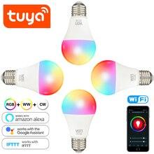 4Pack 8Pack Tuya WiFi Bulbs E27 LED Smart Light Bulb Changing Lamp Voice Control Alexa Google Assistant 100W Equivalent Lighting