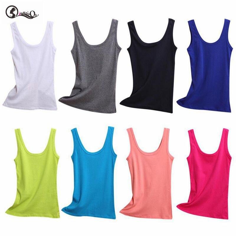 Camisetas sin mangas de primavera verano para mujer, sin mangas, de cuello redondo, camiseta suelta, chaleco de mujer, camisola de algodón, chaleco delgado para mujer