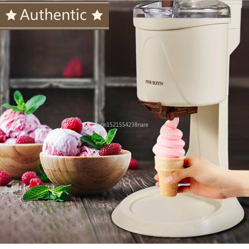 220V Machine Icecream Fully Automatic Mini Fruit Ice Cream Maker For Home Electric DIY Kitchen Maquina De Sorvete For Kids