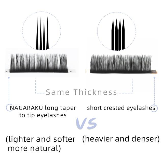 NAGARAKU 16Rows Faux lash individual eyelash extension lashes maquiagem cilios  for professionals soft natural eyelash extension 5