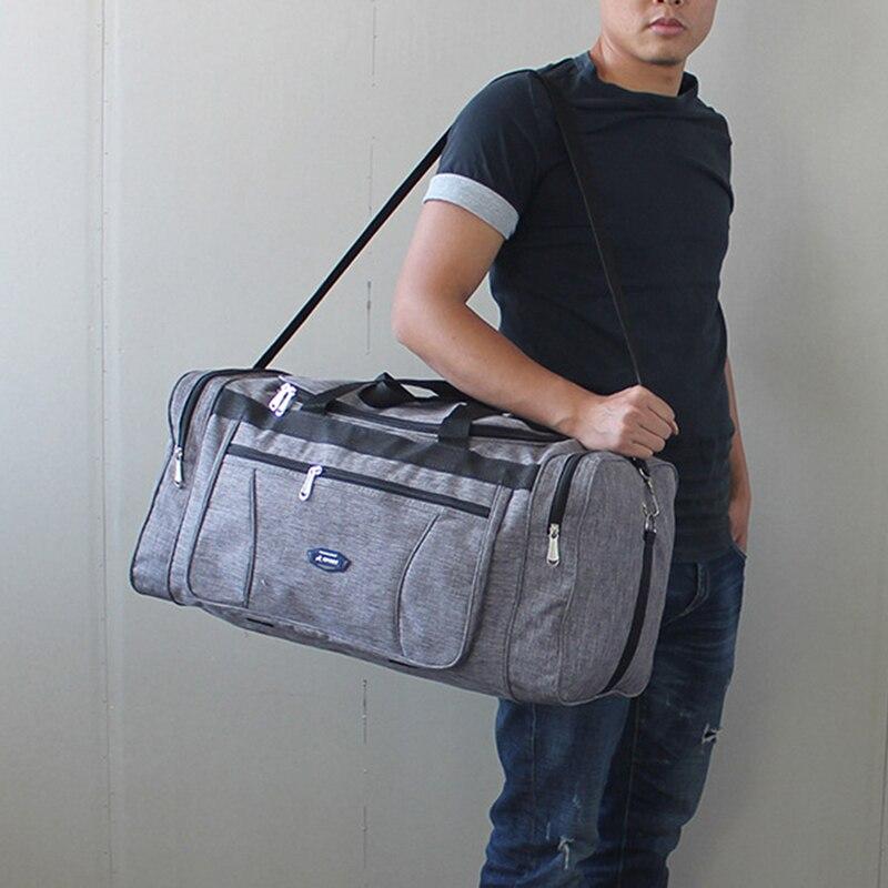 Водонепроницаемые дорожные сумки из ткани «Оксфорд» для мужчин, большой ручной чемодан, туристическая Спортивная деловая вместительная су...