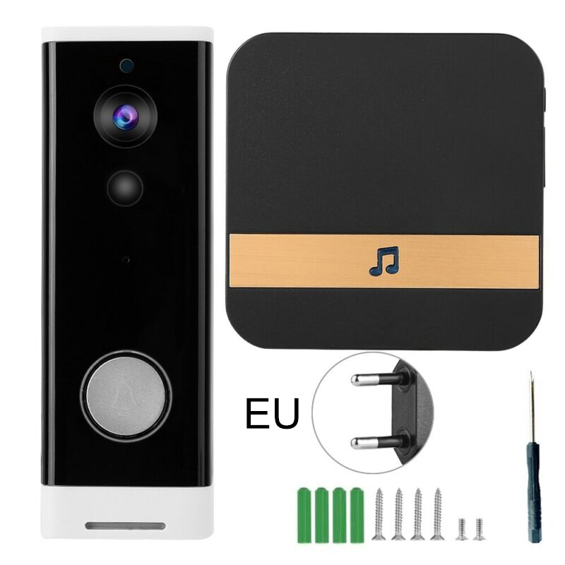 Smart Wireless Home Security System Doorbell Phone Camera Intercom 1080 HD Video Security Alarm  Ultra Low Power Consumption