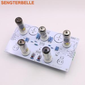 Image 1 - Готовая Плата усилителя мощности 6N2/6N1 6P1 3 Вт * 2, стерео, содержит плату усилителя электронной трубки с индикацией уровня 6E2
