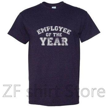 Regalo gráfico sarcástico de empleado del año Idea de Humor adulto divertida camiseta hombres camiseta mujeres 100% camisetas de algodón