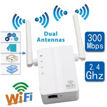 Novo 2.4 ghz 300m wifi extensor de alcance sem fio roteador repetidor de sinal rede impulsionador eua/ue plug