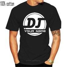 ADICIONAR SEU NOME Da Música Do DJ Logotipo Personalizado T Camisa dos homens Camiseta para o T-shirt Dos Homens Tops O-pescoço Masculino de Manga Curta Dos Homens Formais