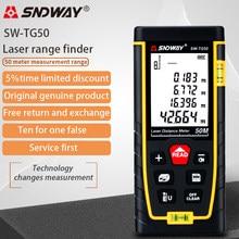 SNDWAY laser distance meter 40M 60M 80M 100M 120M rangefinder trena laser tape range finder build measure device ruler test tool