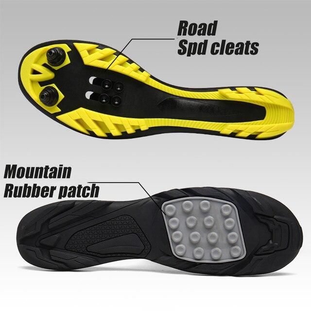 Homens mulher sapatos de ciclismo profissional tênis masculino ao ar livre multi-função estrada mountain bike sapatos homem respirável nano vamp 3