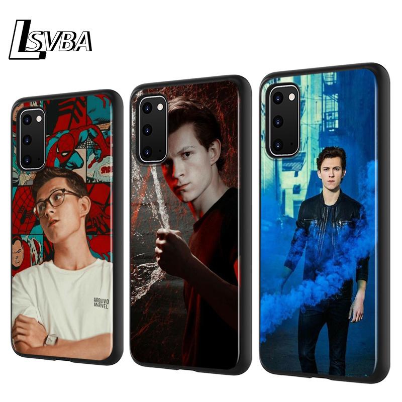 Tom Holland Spiderman Silicone Phone Cover For <font><b>Samsung</b></font> Galaxy S20 Ultra Plus A01 A11 A21 A31 A41 A51 A71 A91 Phone <font><b>Case</b></font> image