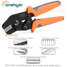 SN-28B Crimping Tools for Dupont Pin Compression Ratcheting Modular Insulated Terminal Crimper Pin 2.54mm 3.96mm Good for ATX, EPS, PCIE and SATA power pins Molex part 43030-0006 terminal connector