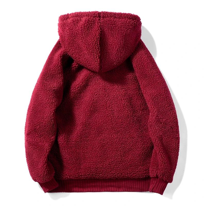 New Quality Brand Men Women Lamb Wool Hoodies