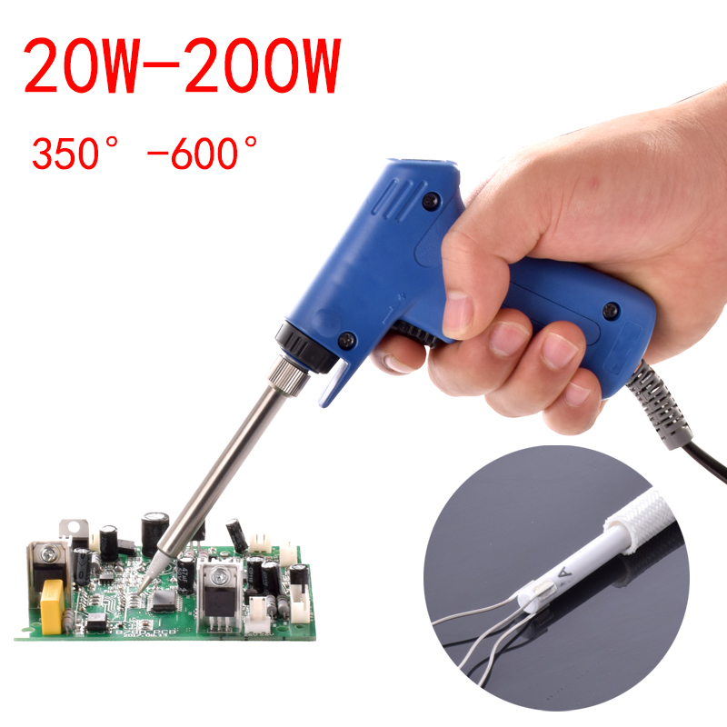 High Power Soldering Iron 220V 20W-200W Professional  Dual Power Quick Heat-Up Adjustable Welding Electric Soldering Iron Gun