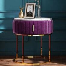 Дворцовая благородная Вилла Железный Золотой мягкий бархат тумбочка кофе диван конец прикроватный столик мебель тумбочка шкаф спальня
