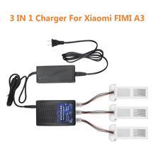 FIMI A3 Caricatore 3 in1 Multi Batteria Hub di Ricarica Lipo Caricatore Dellequilibrio Della Batteria 3 Batterie di Ricarica Allo Stesso Tempo per Xiaomi a3 Drone