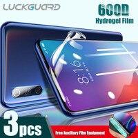 Protector de pantalla de hidrogel para móvil, película suave de cobertura completa para Xiaomi Mi 6, 8, 9, 10, 11 Lite Note 3, Xaiomi Max 2, 3 Mix, 2S, sin película de vidrio, 3 uds.