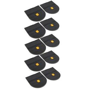 Image 3 - 5 paires talons en caoutchouc colle sur la semelle de chaussure réparation coussinet de remplacement pour hommes et femmes chaussure talon protecteur 6mm épais chaussures accessoires