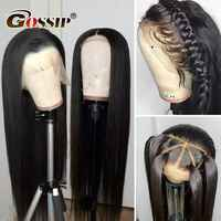 13x6 Lace Front Wig Straight Lace Front Human Hair Wigs For Black Women Pre Plucked Brazilian Lace Frontal Wig Gossip Remy Hair