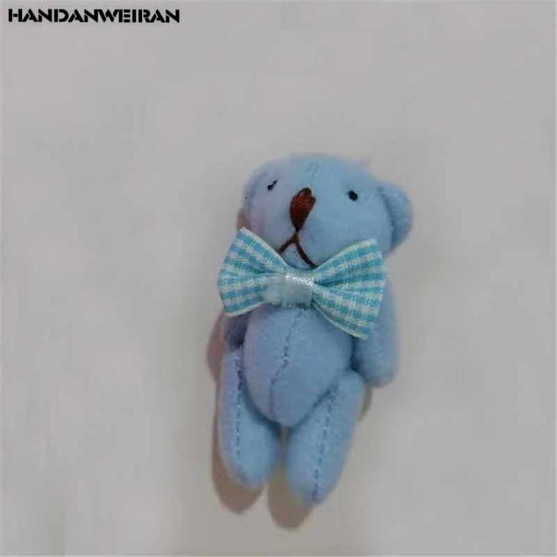 1 шт., новый плюшевый медведь с галстуком-бабочкой, игрушки, креативные, милые, мягкие, мягкие, шарниры, медведи, игрушка, кукла, маленький кулон, детские подарки для валентинки, хит, 6 см