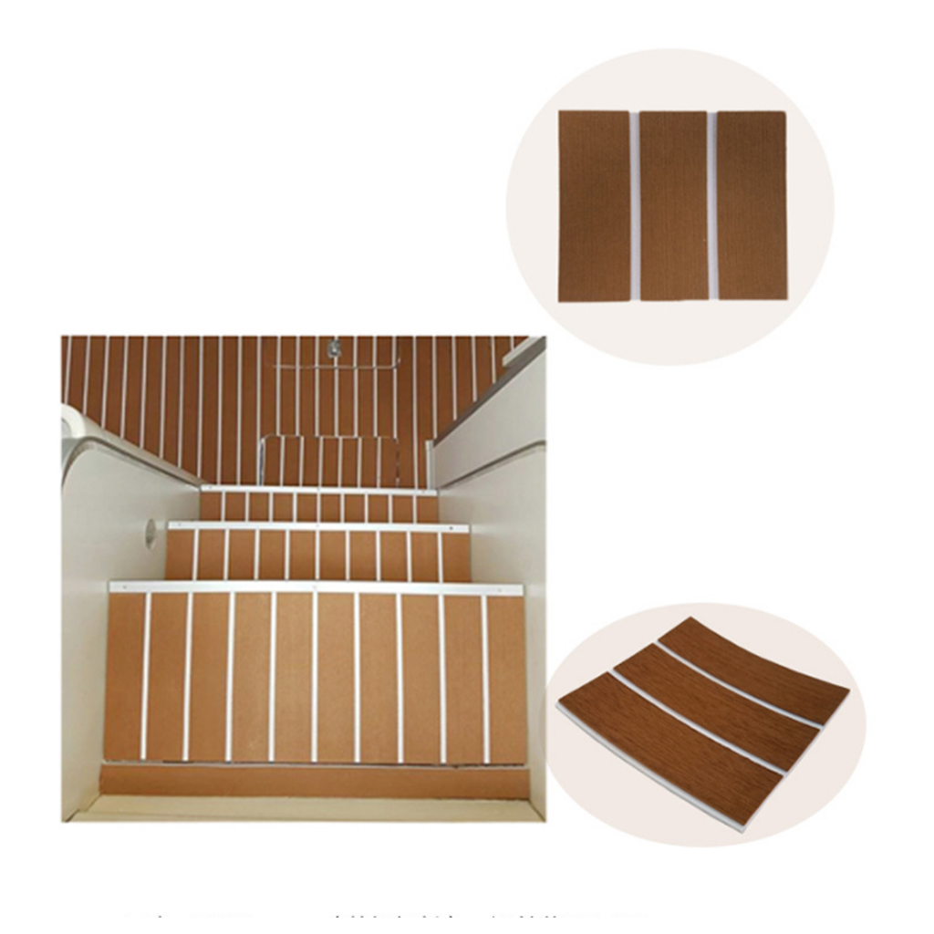 Self Adhesive EVA Foam Teak Sheet Boat Yacht Synthetic Decking 240 X 5.7cm