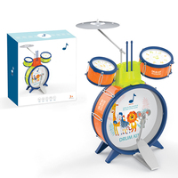 Kids Musical Drum Instrument Toys 2 Drums Simulation Jazz Drum Kit with Drumstick Education Learn Music Toy for Children Gift