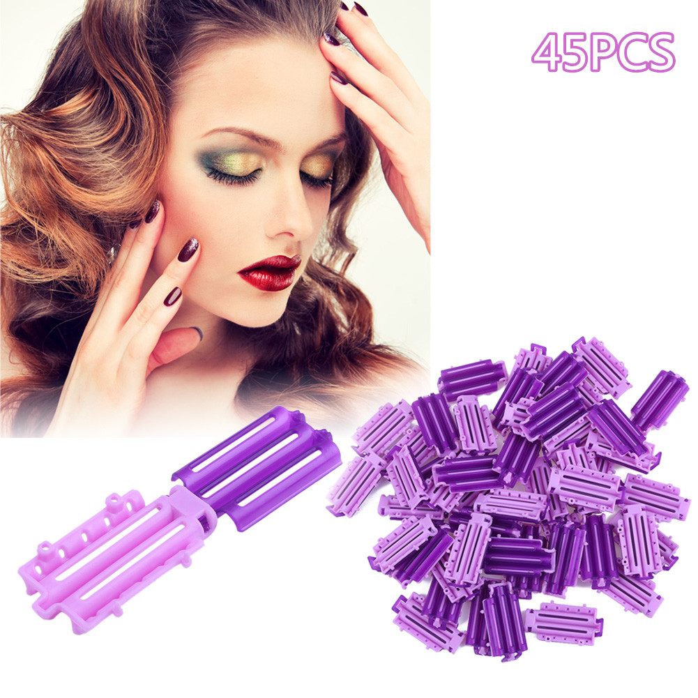 45pcs/Bag Fluffy Hair Roots Perm Rod Bars Corn Curler DIY Curler Fluffy Hair Roots Perm Hair Styling Tool for Salon Travel Home