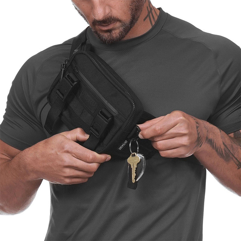 Multi-function Droppable Key Clothes Waist Bags Men Sport Pocket Casual Chest Pack Purse Belt Bag Shoulder Outdoor Accessories