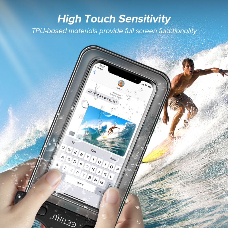 Waterproof Phone Case Swim Pouch Bag For Androids, and iPhone 4