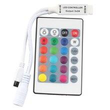 цена на 24Key 12V Led Mini RGB IR Controller DC 12V RGB Led Strip Controller Remote For SMD 3528 5050 5630 3014