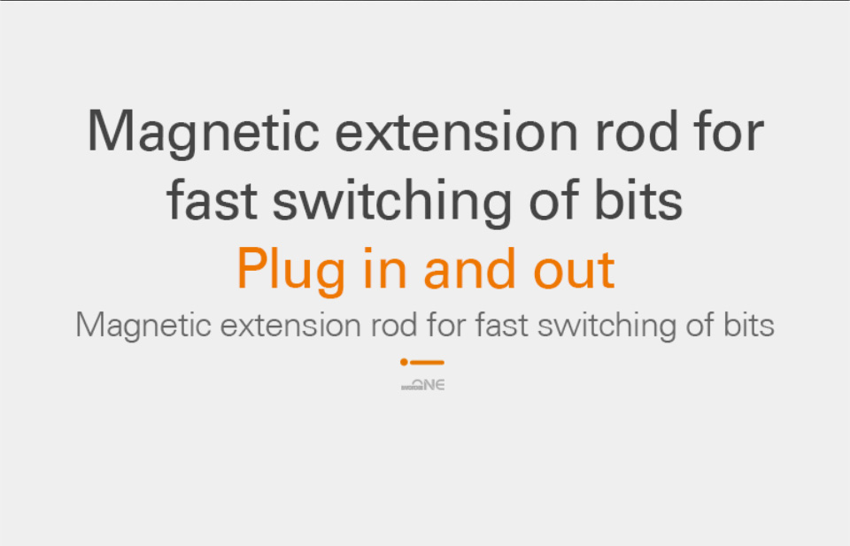 Magnetic extension plug in or out