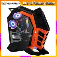Darkflash K1 ATX desktop-computer fall DIY spezielle-förmigen persönlichkeit stil gaming glas gabinete pc fall gamer große Chassis
