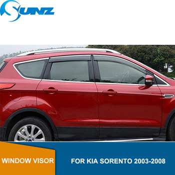цена на Car window rain protector For  KIA SORENTO 2003 2004 2005 2006 2007 2008 Window Visor Vent Shades Sun Rain Deflector Guard SUNZ