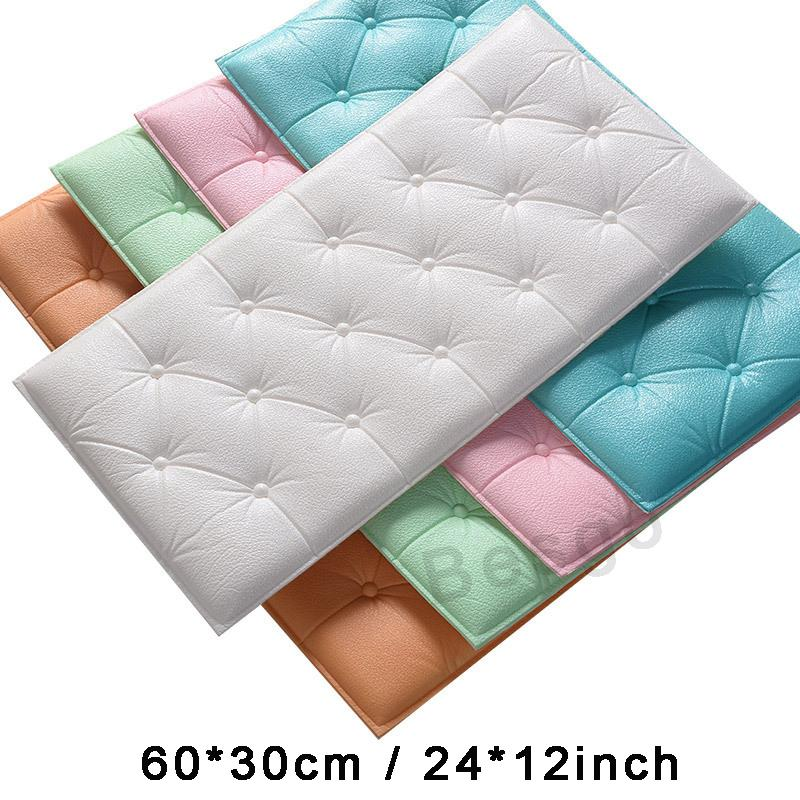 Pegatina de Panel de pared 3D para decoración del hogar, pegatinas suaves gruesas para habitación de niños, dormitorio, sala de estar, diseño Interior, decoración de pared